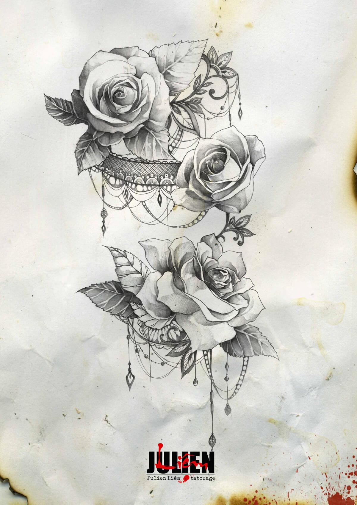 dessins julien liem tatouage. Black Bedroom Furniture Sets. Home Design Ideas